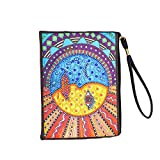 Dom Diamond Painting Purses Diamond Art Purse Cross Stitch Art Tote Bag Stitch Mochila Cartera De Embrague Bolso De Taladro En Forma Especial Bolso Crossbody Para Mujeres Art Craft Decor 20x15cm