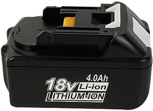 Sponsored Ad – SHGEEN BL1840 18V 4.0Ah Li-ion Replacement battery for Makita 18V BL1850 BL1840 BL1840B BL1850 BL1860 BL186...