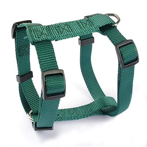 Puppy Pet Harness Nylon Small Dog Harness Pet Vest verstelbaar 4 maten XS S M L, Rose, L Knap en praktisch hondenvest, hondenriem (Color : Green, Size : XS)