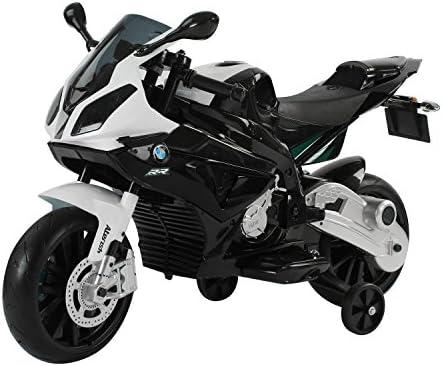 Moto elettrica bmw per bambini velocità 2.5-5km/h con rotelle e luci 110 × 47 × 69cm homcom IT301-007WT0631