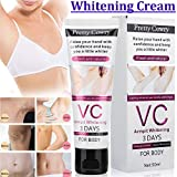 OUYAWEI VC Underarm Whitening Cream for Bikini Elbow Armpit Knee Dark Area