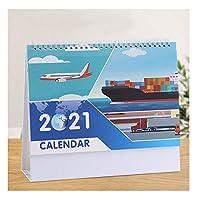 カレンダー 卓上カレンダー2021、企画・組織の月次下敷きカレンダー、二重コイルは、バインディング/利用可能な2021を通じて、 机/壁掛けカレンダー (Color : D)