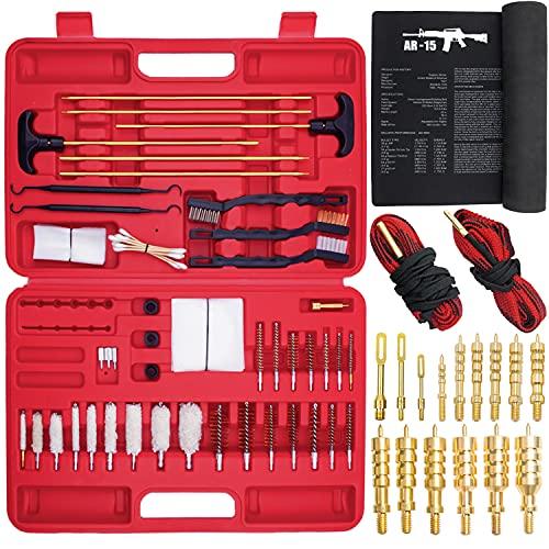 Universal Gun Cleaning Kit, Brass Jags, Gunsmith Mat, 2 Gun...