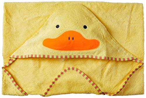 Toalla infantil de playa amarilla con capucha, diseño de pato