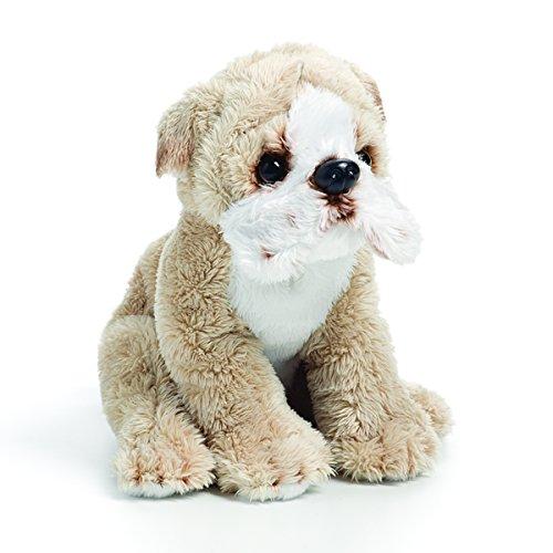 DEMDACO Sandy Brown Bulldog Children's Plush Beanbag Stuffed Animal Toy