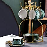 Taza de café/té Copa Taza y platillo de té de cerámica Set Inicio Flor té de la tarde juego de té Rejilla para platillo Rejilla para platillo