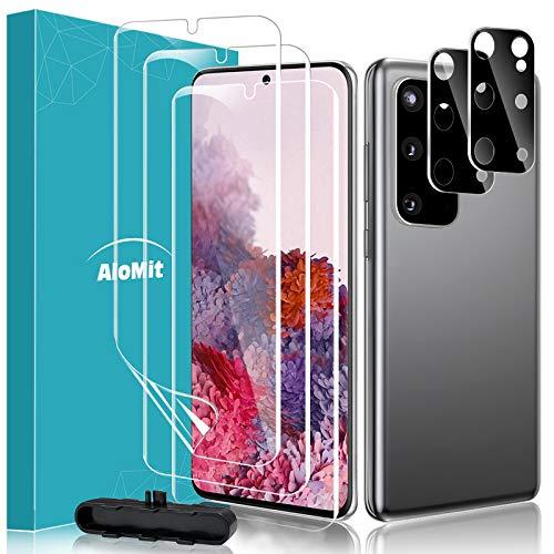 AloMit Schutzfolie für Samsung Galaxy S20Plus Folie, Kamera Panzerglas(3+2)