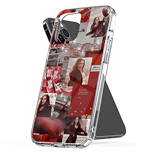 REDPEONY Phone Case Compatible with iPhone 8 12 6 2020 Se 7 X 11 Xr Scarlet 6s Witch Plus Collage Xs Pro Max Mini Jumbo Mixed Media Combine Photo Collage