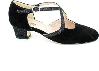 L'ANGOLO CALZATURE - Scarpa da Ballo in camoscio Nero e Glitter