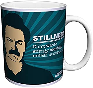 Parks and Recreation Ron Swanson Stillness Quote Workplace Comedy TV Television Show Ceramic Gift Coffee (Tea, Cocoa) 11 Oz. Mug