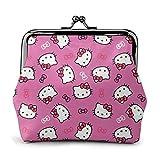 Hello Kitty Pink Coin Purse Hebilla Monederos Monedero Monedero Cambio Mujer Viaje Maquillaje Carteras Vintage Kiss-Lock Pouch Bag Cut