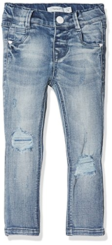 NAME IT NAME IT Mädchen NKFPOLLY DNMTARA 1002 Pant NOOS Jeans, Blau (Light Blue Denim), 92