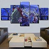 Aehoor Moderna Art 5 Piezas/Set HD Cuadro en Lienzo Impresión Artística Imagen Gráfica Decoracion de Pared Pintura de Pared Corredor Oficina Sala Decorativo Toradora! Poster 55/45/35x20CM Frame