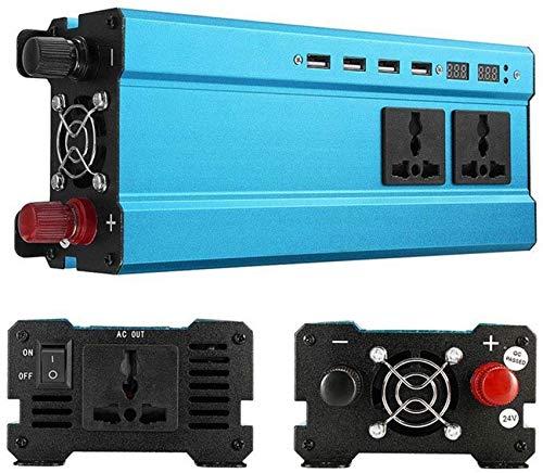 ZHTY Inversor de energía Solar de 850W DC 12V a 110V AC Adaptador de Cargador de convertidor de automóvil con 4 Interfaz USB 3 Salida Universal Internacional Inversor de Campamento Dual