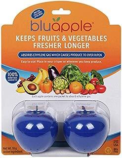 Bluapple Blue Produce Freshness Balls to Keep Fruits and Vegetables Fresher Longer One for Each Crisper Drawer