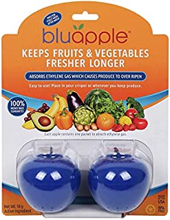 Bluapple Produce Freshness Saver Balls - Extend The Life of Fruits and Vegetables In The Refrigerator Or In A Fruit Bowl By Absorbing Ethylene Gas To Keep Produce Fresher Longer