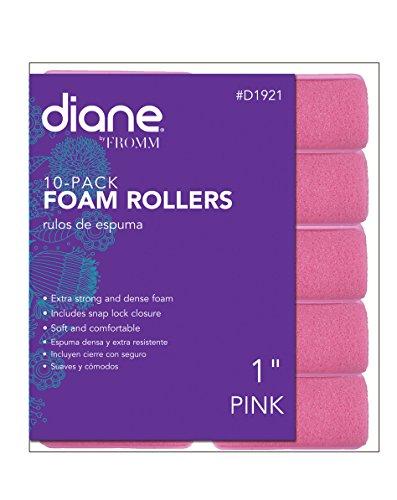 Diane Foam Rollers, Pink, 1 Inch