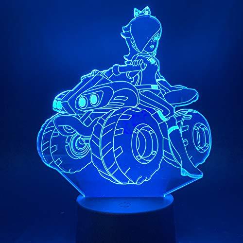 3D Nachtlicht Illusion Lampe LED Kinder Quad Deko Licht Stimmungslicht Fernbedienung Nachttischlampe 7 Farben ändern Touch Switch Schreibtisch Lampen Geburtstagsgeschenk