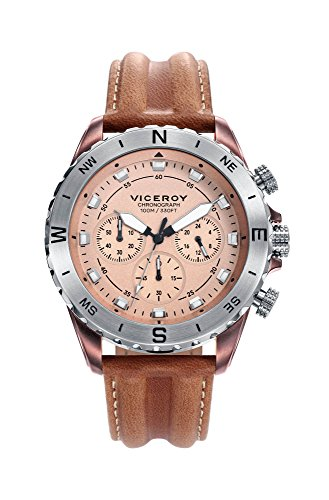 Viceroy Reloj Cronógrafo para Hombre de Cuarzo con Correa en Cuero 471113-47