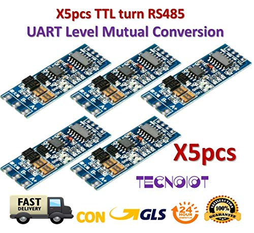 TECNOIOT 5pcs TTL Turn RS485 485 to Serial UART Mutual Conversion Automatic Flow Control