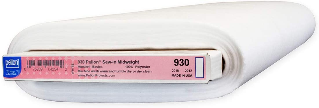 Pellon 930 Sew-In Midweight Interfacing White Yards List price Bolt Excellent 30