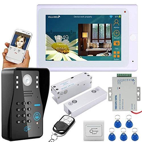 WG 7 pulgadas TFT cableado/inalámbrico WiFi RFID Contraseña Video Puerta Teléfono Timbre...