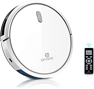 """Robot Vacuum Cleaner - 1400Pa Ultra-Strong White Robot Vacuum, 4 Cleaning Modes, 2.7"""" Ultra-Thin, Self-Charge, 360° Anti Collision & Anti Drop, Smart Robotic Vacuum for Pet Hair, Carpet, Hard Floor"""