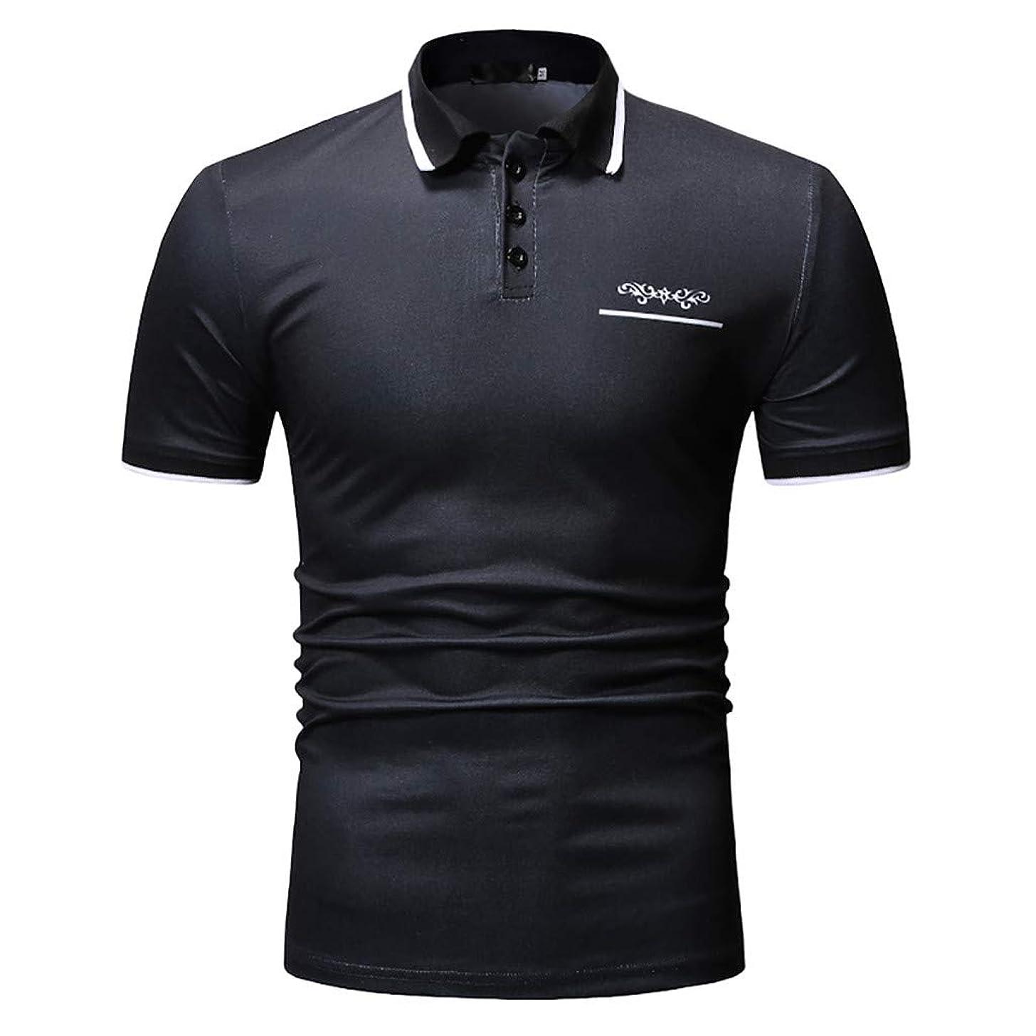 HimTak New Spring And Summer Hot Men's Short-Sleeved Button t-Shirt Casual Wild Slim Shirt Shirt