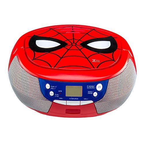 EKIDS SM-430 -CD Boombox Spiderman Lecteur CD Compatible CDR-RW Bleu