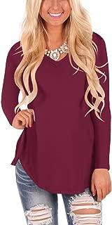 solid color v neck t shirts