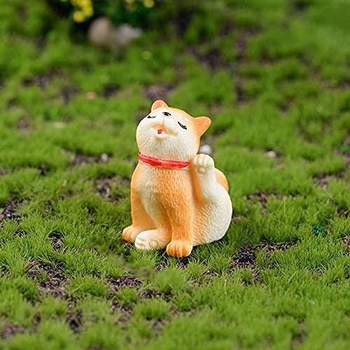 Kit Adornos Hadas Miniatura 1/2 Pieza Paisaje Japonés Miniaturas Estatuilla Decoración Kawaii Resina Corgi Perro Juguetes Serie Sleepy Figuras En Miniatura Regalo para Niños 1 Pieza