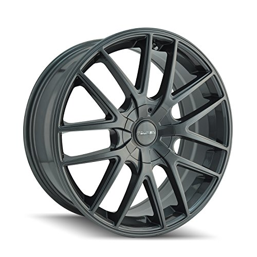 TOUREN TR60 0 x 7. inches //5 x 110 mm, 42 mm Offset 3260 BLACK Wheel MACHINED FACE Ring