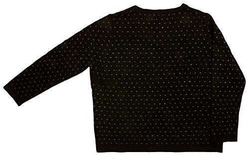 VITIVIC Spots Plata Negro Pull, Noir, 14 Ans Bébé Fille