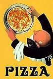 HGDGAH - Letreros de metal vintage para pizza, restaurante y queso, para decoración de bar, cafetería, salón, dormitorio, garaje, jardín, 30,5 x 20,3 cm