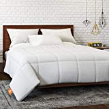 HOSPITOLOGY PRODUCTS Microfiber All-Season Goose Down Alternative Quilted Comforter & Duvet Insert - Queen - Hypoallergenic - Corner Loops - Box Stitched - Washable - 90' W x 94' L