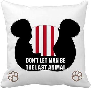 OFFbb-USA Dont Let Man Be The Last Animal Bear - Funda cuadrada para almohada
