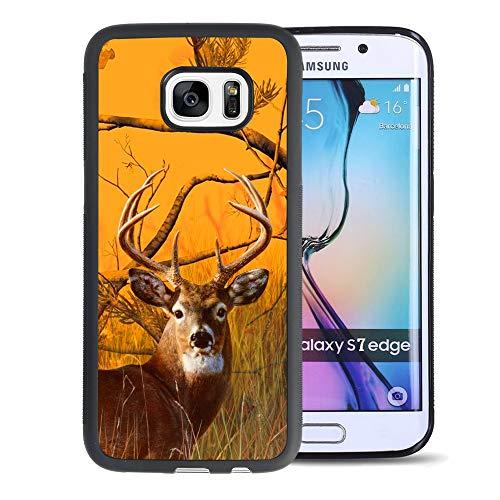 Hunting Deer Samsung Galaxy S7 Edge Phone Case Black TPU Protective case Shockproof Non-Slip Soft Designed Hunting Deer case for Samsung Galaxy S7 Edge