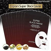 ENPRANI Super Black Caviar Mask Pack (10Sheet) エンプラニスーパーブラックキャビアマスクパック (10枚セット) [並行輸入品]