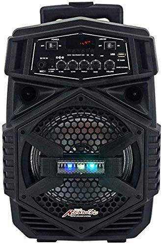 SQQSLZY PA portátil inalámbrico Bluetooth Sistema de Altavoz Incorporado Carretilla Fondo Integral USB/TF Tarjeta de Reproductor de Audio Digital inalámbrico de Mano con micrófonos y Control Remoto