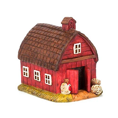 Darice 30013849 Mini 4.25X3.25X4.25 Farm Barn, Multicolor