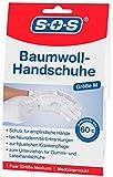SOS Baumwoll-Handschuhe| Schutz für empfindliche Hände | Neurodermitis (1er-Pack)