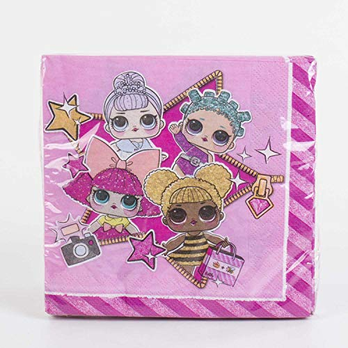 Gabiano- L.O.L. Lol Surprise Pack20 servilleta papel 30c m, Color rosa, 1...