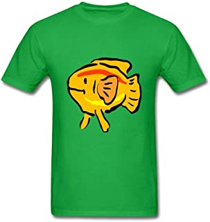 SCShirt Men's Yellow Fish Custom Short Sleeve Tshirt