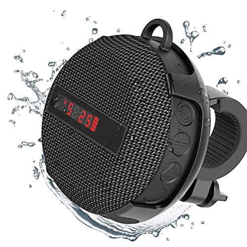 Altavoz portátil Bluetooth IPX6 resistente al agua a prueba de golpes para montar al aire libre y camping, sonido HD 5.0
