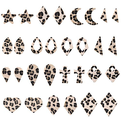 BNMY 16 Pares De Pendientes Colgantes, Pendientes De Cuero, Pendientes Colgantes De Doble Cara De Crin, Joyería De Moda con Flecos para Mujeres Y Niñas,16 Pack