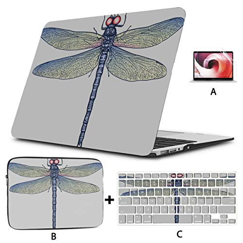 Laptop Cases Cute And Petite Elf Dragonfly Macbook 15 Cover Hard Shell Mac Air 11'/13' Pro 13'/15'/16' With Notebook Sleeve Bag For Macbook 2008-2020 Version