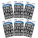 ArtSkills Silver Gem Letter Stickers, Project and Craft Accessories, 1.25 Inch Letters, 6 Packs of 72 Pieces