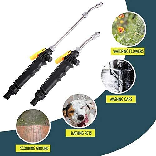 2-in-1 hogedrukreiniger, draagbare verstelbare waterstraalreiniger, uitschuifbare sproeierstang voor het besproeien van bloemen, wassen van auto's, baden van huisdieren, schuurgrond (72cm)