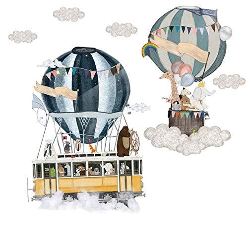 Zelfklevende verwijderbare ballon ballon muur stickers kinderen kamer kleuterschool baby kamer muur stickers milieuvriendelijk doe-het-zelf kunst Vinyl muurschilderingen Shown30x90