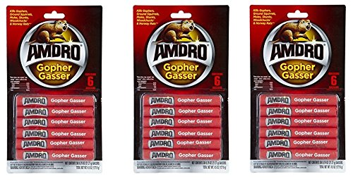 Price comparison product image Amdro Gopher Gasser Contains 3-Packs of 6 Gassers 0.75 Ounces